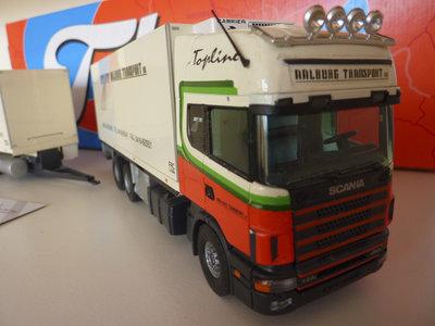 Tekno Tekno Scania 144L topline volumecombi Aalburg transport Wijk&Aalburg
