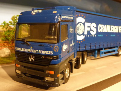Tekno Tekno Mercedes Actros with tautliner semi trailer Cranleigh Freight Services