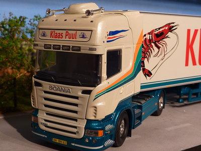 Tekno Tekno Scania R580 Topline with refrigerated trailer Klaas Puul Garnalen