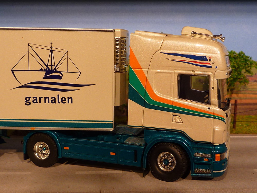 Tekno Tekno Scania R580 Topline met koeloplegger Klaas Puul Garnalen