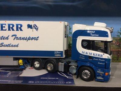 Tekno Tekno Scania R500 Topline 6x2 met koeloplegger M&M Kerr Scotland