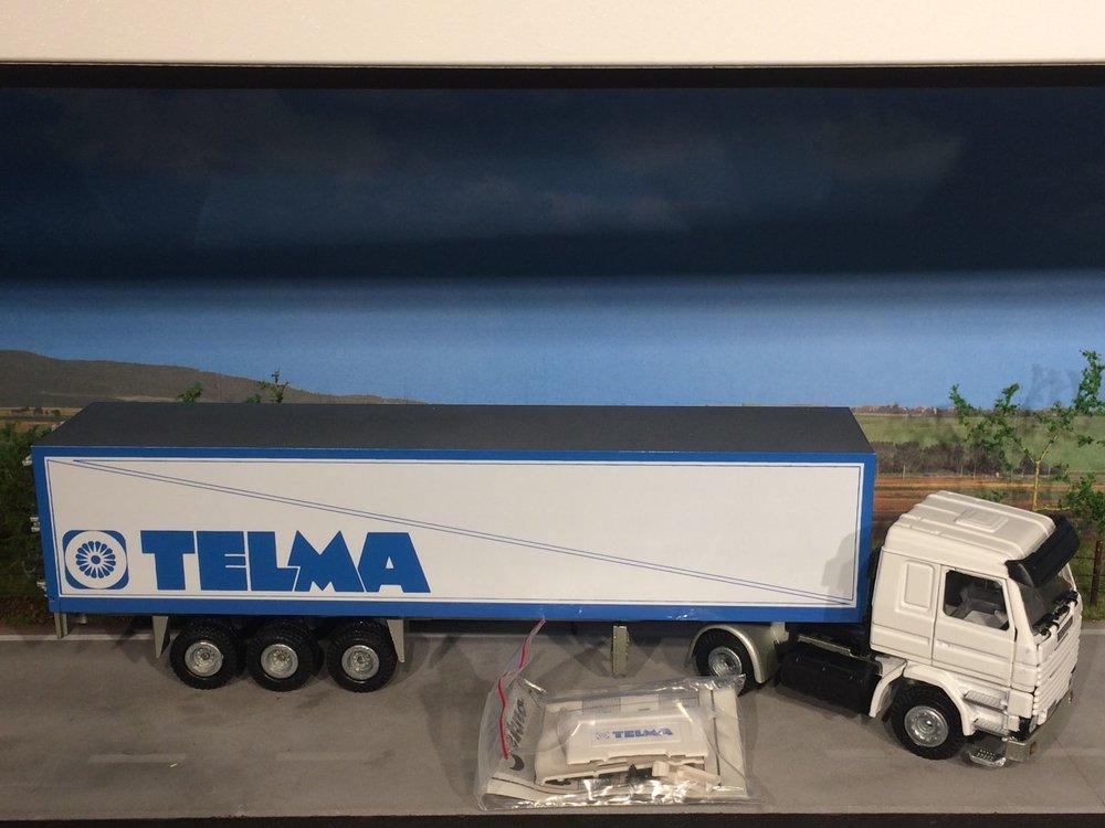 Tekno Tekno Scania 142M met gesloten oplegger Telma France