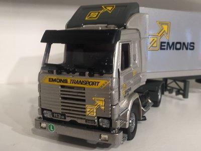 Tekno Tekno Scania 113M met gesloten oplegger EMONS transport