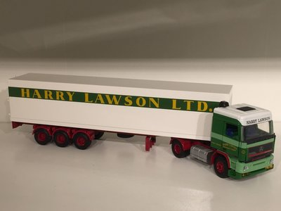 Tekno Tekno Seddon Atkinson Strato 365 met gesloten oplegger Harry Lawson UK