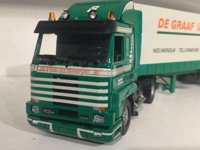 Tekno Tekno Scania 113M streamliner with closed trailer de Graaf Nieuwendijk