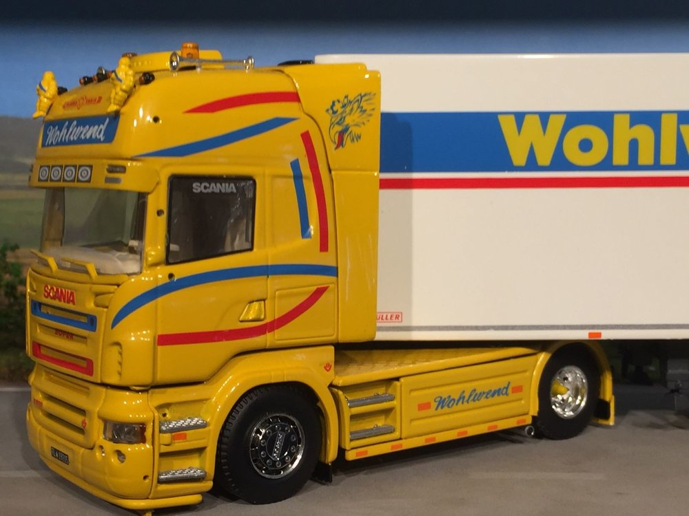 Tekno Tekno Scania R500 Topline met koeloplegger Wohlwend Zwitserland