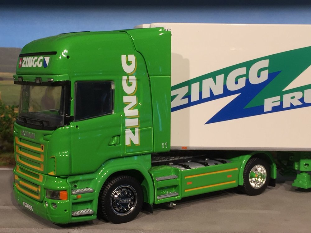 Tekno Tekno Scania R500 Topline met koeloplegger Zingg Zwitserland