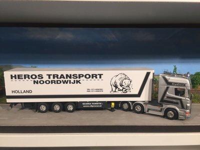 Tekno Tekno Scania R500 Topline 6x2 met koeloplegger Heros