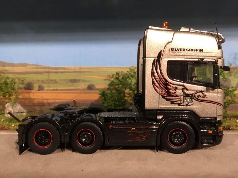 Tekno Tekno Scania R streamline topline single truck Silver Griffin de Kraker