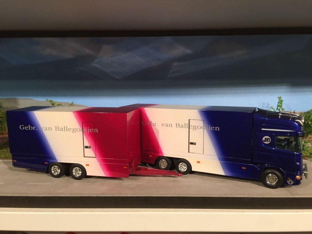Tekno Tekno Scania 164L bakwagen combi Gebr. van Ballegooijen