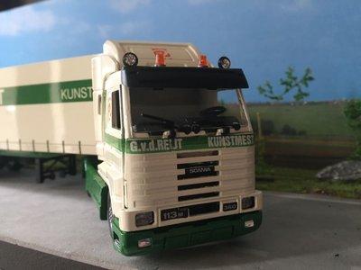 Tekno Tekno Scania 113M streamliner met zeiloplegger G. vd Reijt meststoffen