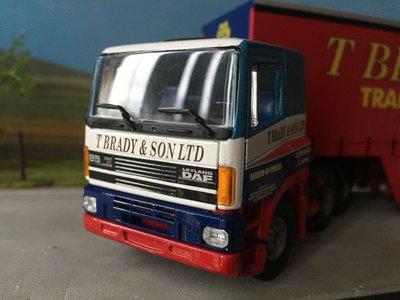 Tekno Tekno DAF 85 6x2 with closed trailer T. Brady & Son