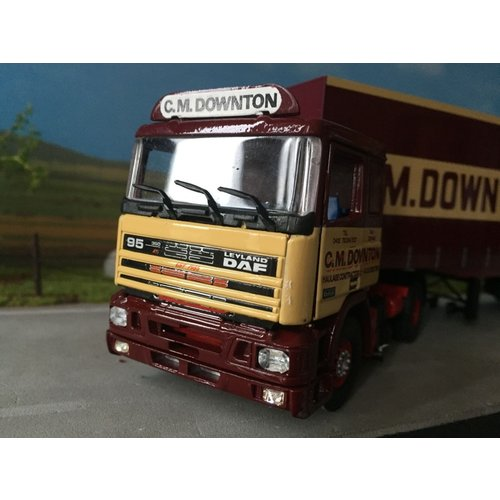Tekno Tekno DAF 85 with closed trailer C.M. Downton Ltd.