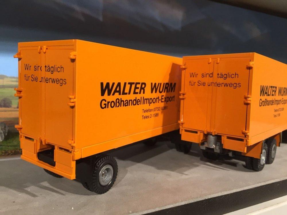 Tekno Tekno Volvo F12 bakwagen combi Walter Wurm