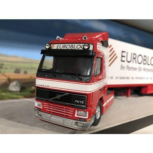 Tekno Tekno Volvo FH16 / 520 met gesloten oplegger Euroblock