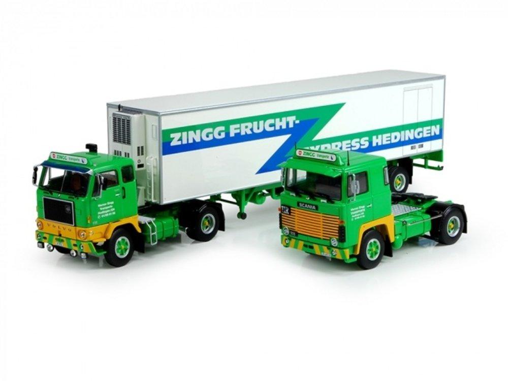 Tekno Tekno Scania 111, Volvo F88 met classic koeloplegger ZINGG set