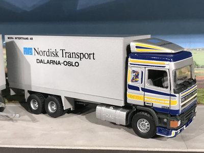 Tekno Tekno DAF 95/400 6x2 voorwagen met aanhanger gesloten combi Nordisk