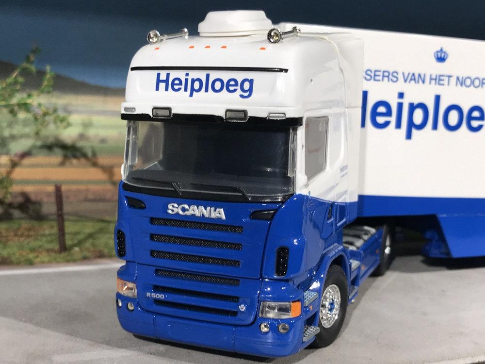 Tekno Tekno Scania R500 V8 Topline met koeloplegger Heiploeg Zoutkamp