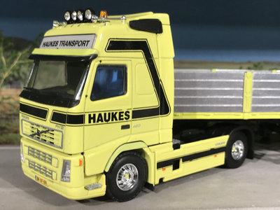Tekno Tekno Volvo FH12 globetrotter XL met 3-as stenenoplegger Haukes Bemmel