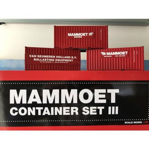 Mammoet store WSI 20ft. container set III mammoet