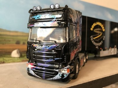 Tekno Tekno Scania R Topline 6x2 with closed trailer Birkenes Second Bitch Norway