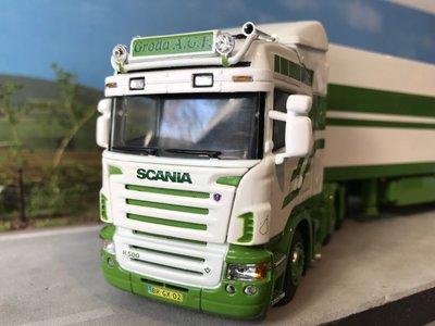 WSI WSI Scania R Highline 6x2 met koeloplegger Groda AGF