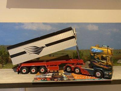 Tekno Tekno Scania R 6x2 Topline met open top kiepoplegger Wilma van de Werken