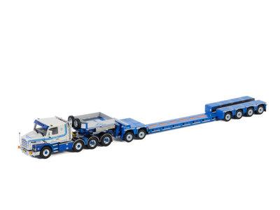 WSI WSI Scania 3 series 8x4 Torpedo with 4-axle loader + 2-axle dolly van den Heuvel