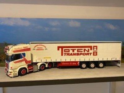 Tekno Tekno R Topline 6x2 met schuifzeilen oplegger Daniel Karlsson Toten Sweden