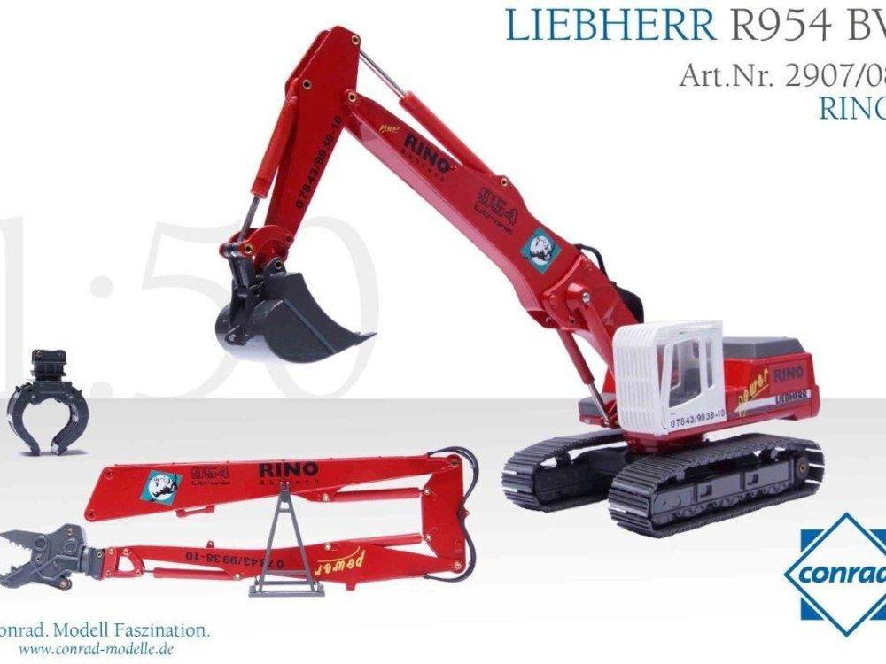 Conrad Modelle Conrad Liebherr R954 BV Demolition excavator RINO