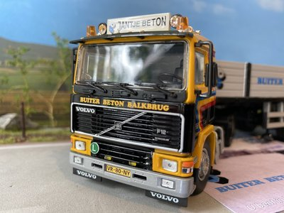 Tekno Tekno Volvo F12 4x2 with short stone trailer Gerben Buiter