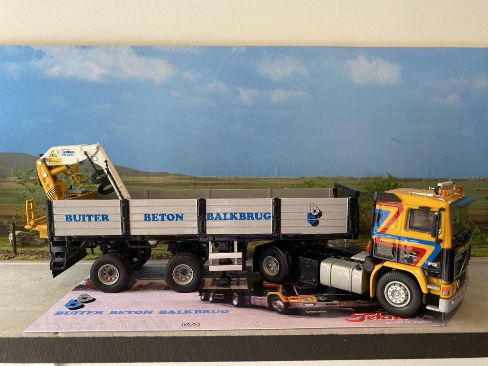 Tekno Tekno Volvo F12 4x2 met korte stenenoplegger Gerben Buiter
