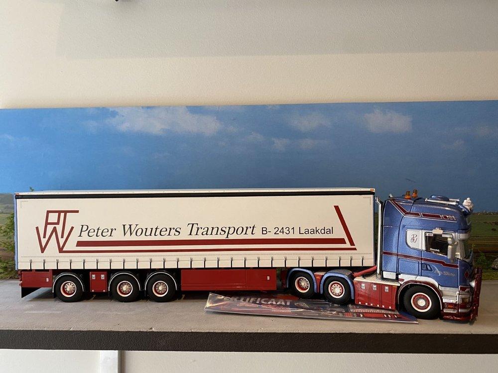 WSI WSI Scania Topline 6x2 met schuif zeilenoplegger PWT