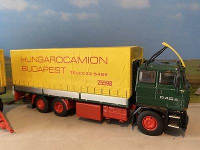 Tekno Tekno RABA 3-assige motorwagen met aanhanger Hungarocamion
