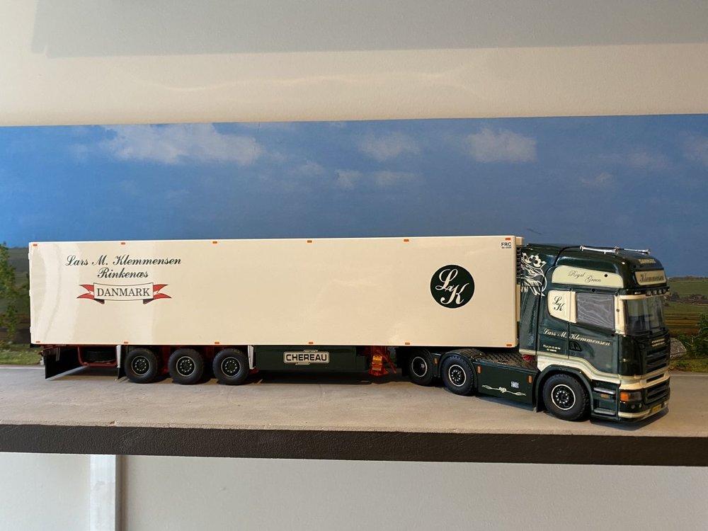 Tekno Tekno Scania R500 Topline 6x2 met koeloplegger Klemmensen
