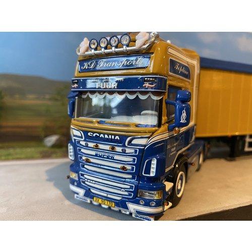 WSI WSI Scania R Topline  6x2  met volume oplegger KD Transport