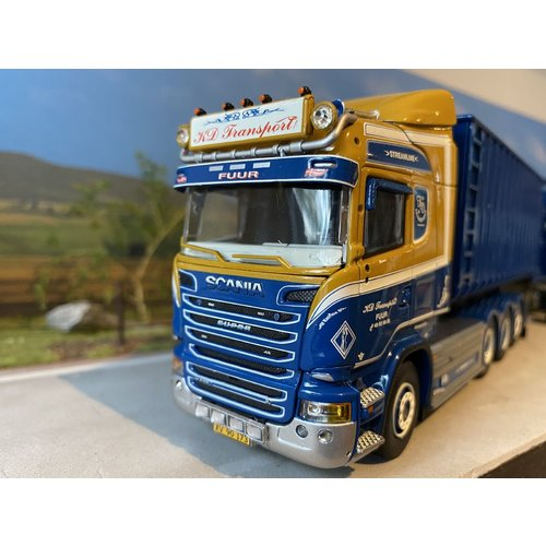 Tekno Tekno Scania R Highline motorwagen met afzetcontainers KD Transport