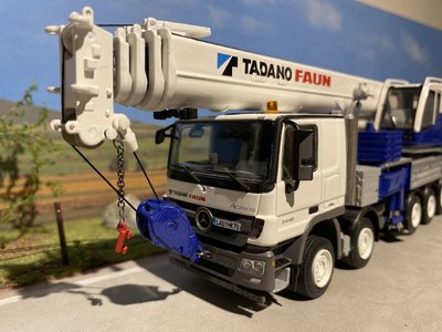 WSI WSI Faun HK 70 Mercedes Actros white model