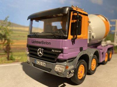 NZG NZG Mercedes Actros 4-axle concrete mixer Lichtner beton
