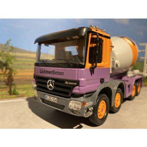 NZG NZG Mercedes Actros 4-axle betonmixer Lichtner beton