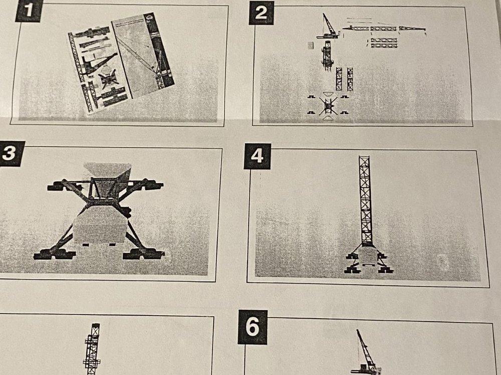 Conrad Modelle Conrad MAN Wolff tower crane