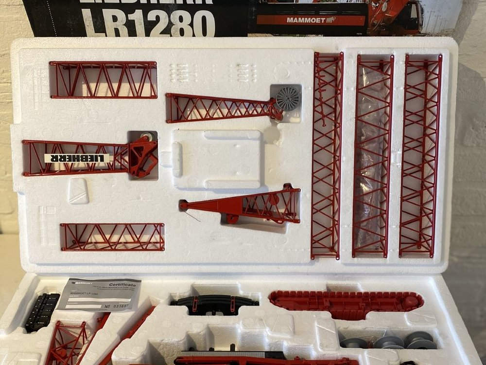 Mammoet store Conrad Liebherr LR1280 Litronic rupskraan Mammoet