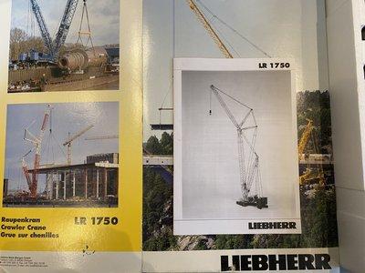 Conrad Modelle Conrad Liebherr LR1750 crawler crane