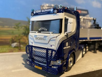 WSI WSI Scania S 6x2 met stenen oplegger Henri Bauman