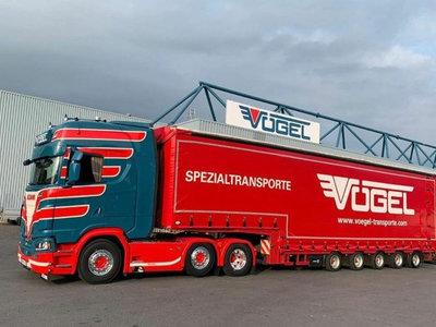 Tekno Tekno Scania Next Gen S-serie Highline met 4-assige oplegger Vogel