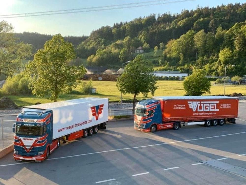 Tekno Tekno Scania Next Gen S-serie Highline met koeloplegger Vogel