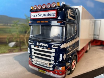 Tekno Tekno Scania R Topline truck with a seesaw Hans Swijnenburg