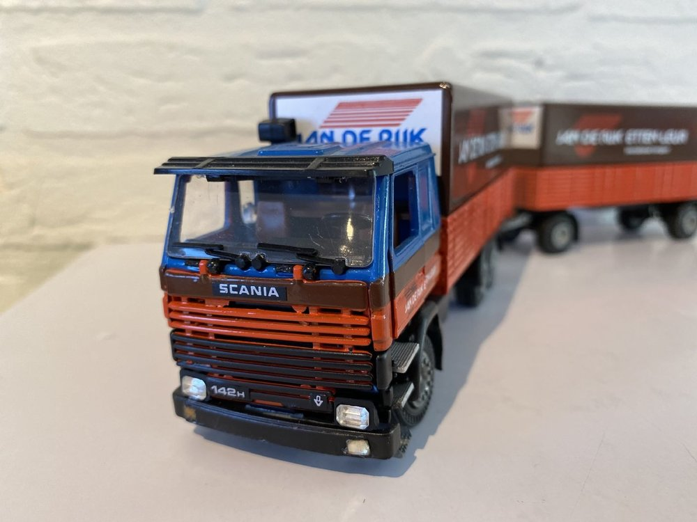 Tekno Tekno Scania 142H Classic huif combi Jan de Rijke
