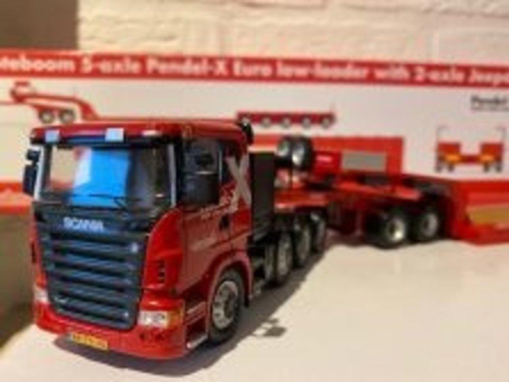 NZG NZG Scania R500 8x4 Nooteboom Pendle X 5 + 2
