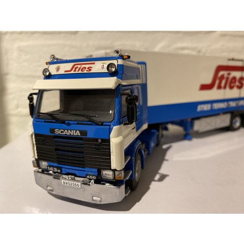 WSI WSI Scania 143M 4x2 met koeloplegger STIES